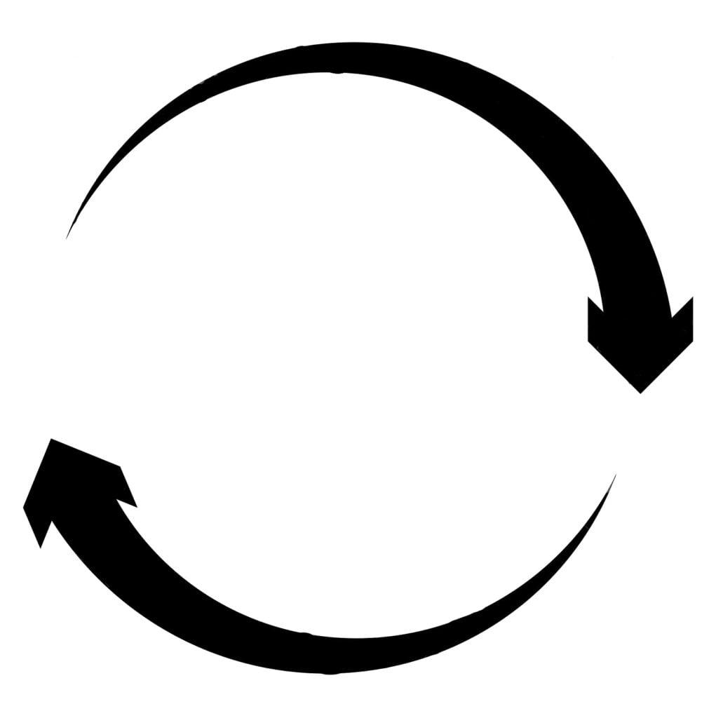 circular-circle-arrow-right-radial-arrow-icon-symbol-clockwise-rotate-twirl-twist-concept-element-spin-vortex-pointer-whirlpool-158000955