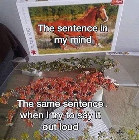 The sentence in my mind